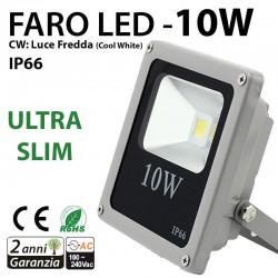 Faretto led smd luce bianca da interno ed esterno slim 10w